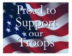 We are proud to support our troops